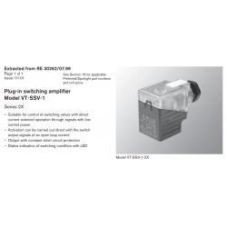 Plug-in switching amplifi er Model VT-SSV-1 Series 2X