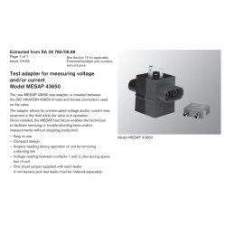 Test adapter for measuring voltage and/or current Model MESAP 43650