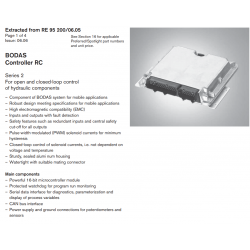 BODAS Controller RC Series 2 For open and closed-loop control of hydraulic components