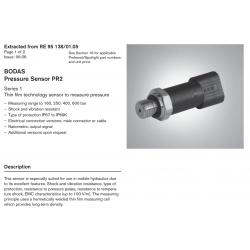 BODAS Pressure Sensor PR2 Series 1