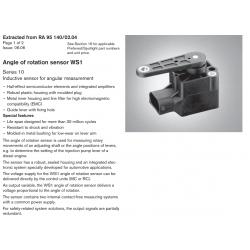 Angle of rotation sensor WS1 Series 10 Inductive sensor for angular measurement