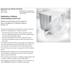 Application software Load limiting control LLC Electronic load limiting control system for power management