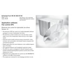 Application software Fan control AFC Electronic fan control for hydrostatic fan drives Version 10