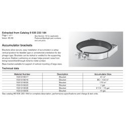 Accumulator brackets. Brackets allow secure, easy installation of accumulator