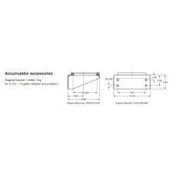 Accumulator accessories Support bracket / rubber ring for 2-1/2 – 14 gallon bladder accumulators