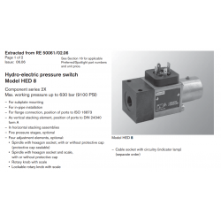 Hydro-electric pressure switch Model HED 8