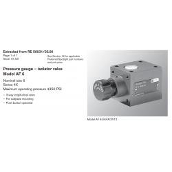 Pressure gauge – isolator valve Model AF 6
