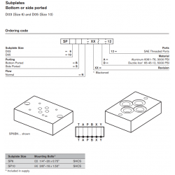 Subplates Bottom or side ported D03 (Size 6) and D05 (Size 10)