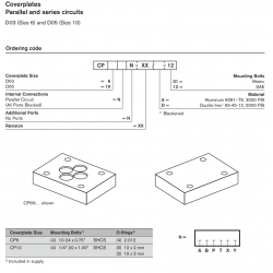 Coverplates Parallel and series circuits D03 (Size 6) and D05 (Size 10)
