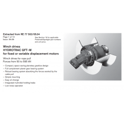 Winch drives HYDROTRAC GFT–W for fixed or variable displacement motors