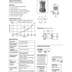 Check Valve Insert, Ball Type Series D1A060