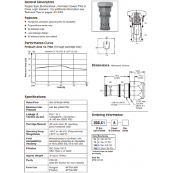 Poppet Type Logic Valve Series 20SLC1-A
