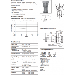 Spool Type Logic Valve Series 20SLC2-A