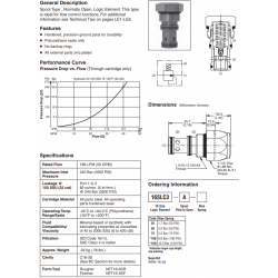 Spool Type Logic Valve Series 16SLC3-A