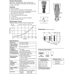 Spool Type Logic Valve Series R04H3