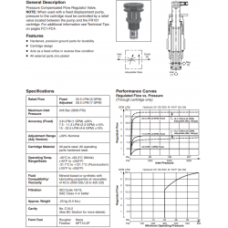 P.C. Flow Regulator Valve Series FR101