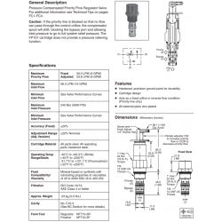 P.C. Priority Flow Regulator Valve Series FP101