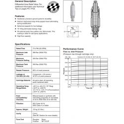 Differential Area Relief Valve Series RDH103