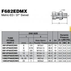 F682EDMX Metric-ED / 37° Swivel