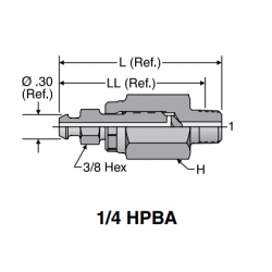 Port Bleed Adapters. 1/4 HPBA.