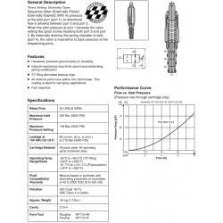 D.A., N.O. Sequence Valve (Ext. Pilot & Drain) Series SV104