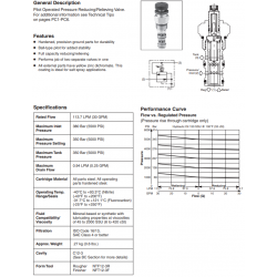 P.O Pressure Reducing/Relieving Valve Series PRH121