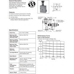 P.O. Pressure Reducing/Relieving w/Check Series PRCH101