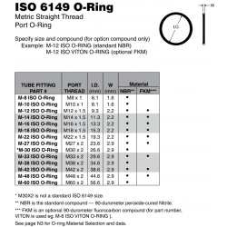 ISO 6149 O-Ring Metric Straight Thread Port O-Ring