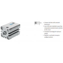 Compact cylinders ADN, to ISO 21287, double-acting