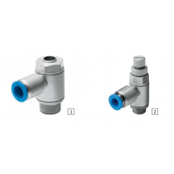 One-way flow control valves GRLA, GRLZ