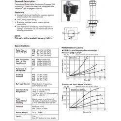 Proportional Relief Valve Series AP02B2YP 07C, 14C, 21C, 35C
