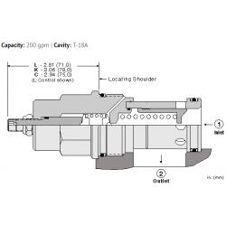 RPKELAN Fast-acting, pilot operated, balanced piston relief valve
