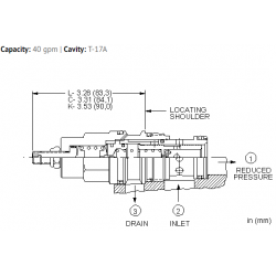 PBHBLAN Pilot operated, pressure reducing valve
