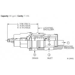PBJBLAN Pilot operated, pressure reducing valve