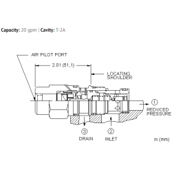 PBFCABN Air-controlled, pilot operated, pressure reducing valve