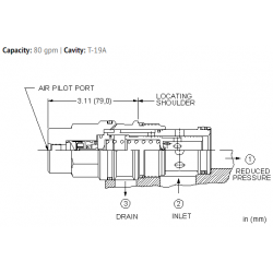PBJCBBN Air-controlled, pilot operated, pressure reducing valve