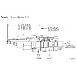 PBFFLAN Pilot operated, pressure reducing valve with drilled piston orifice