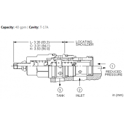 PPHBLAN Pilot operated, pressure reducing/relieving valve