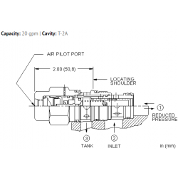 PPFCABN Air-controlled, pilot operated, pressure reducing/relieving valve
