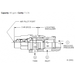 PPHCBBN Air-controlled, pilot operated, pressure reducing/relieving valve