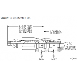 PRDBLAN Direct-acting, pressure reducing/relieving valve