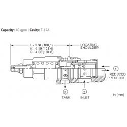 PRHBLAN Direct-acting, pressure reducing/relieving valve
