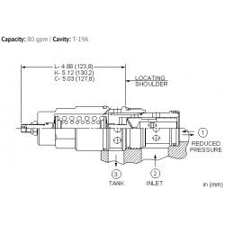 PRJBLAN Direct-acting, pressure reducing/relieving valve