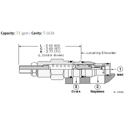 RSBCLAN Pilot operated, balanced piston sequence valve