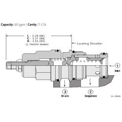 SQHBLAN Kick-down, pilot operated, balanced piston sequence valve