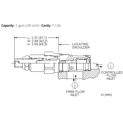 NCCCLCN Fully adjustable needle valve with reverse flow check
