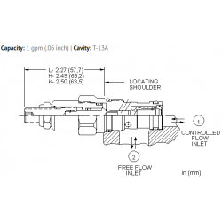 NCCDLAN Fully adjustable needle valve with reverse flow check
