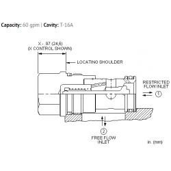 CNGCXCN Fixed orifice, non-pressure compensated, flow control valve with reverse flow check