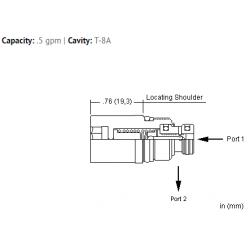 FXAGXAN Flush mount, pressure compensated flow control