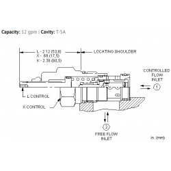 FCDBXAN Fixed orifice pressure compensated flow control valve with reverse flow check